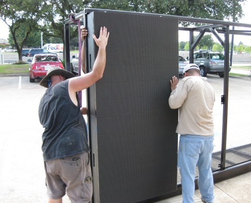 installing the 10mm LED cabinets