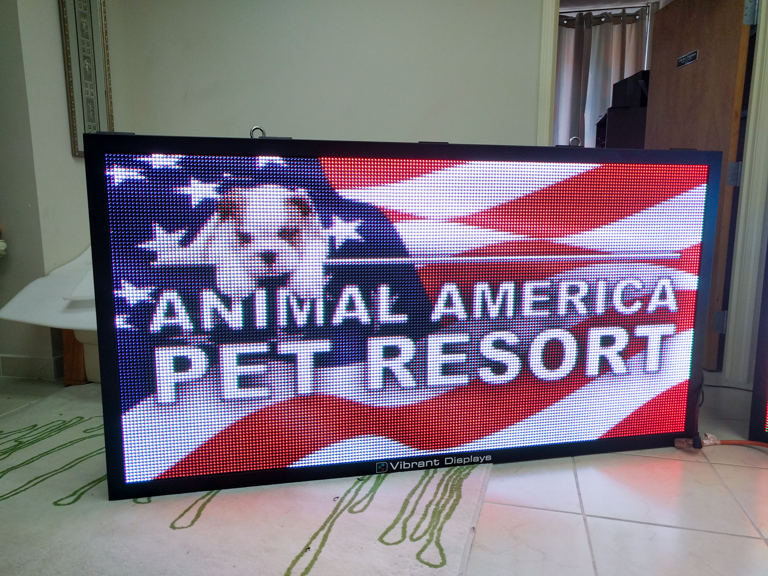 Newly Assembled Vibrant Displays Sign